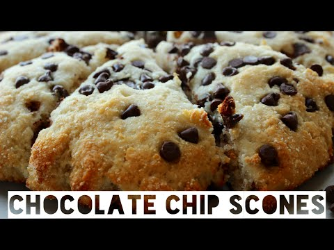 Healthy Chocolate Chip Protein Scones Recipe | How To Make Low Calorie Chocolate Chip Scones