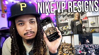 NIKE IN THE RESELL BUSINESS ? NIKE VP RESIGNS AFTER SON USES CREDIT CARD TO BUY SNEAKERS TO RESELL !