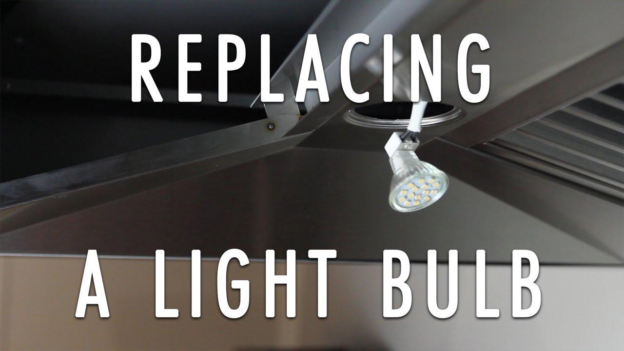 How to Change a Range Hood's Light Bulb in a ZLINE Range Hood