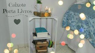 DIY Caixote porta livros
