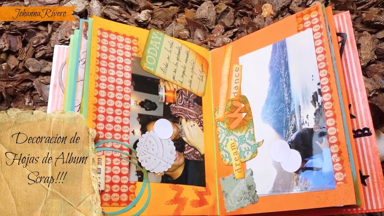 Como Decorar hojas de Album Scrapbook, Paso a Paso - YouTube