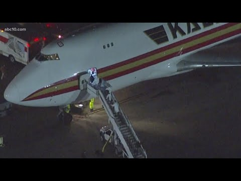 2 Jets With Americans Escaping Coronavirus Zone Land At Travis Air Force Base
