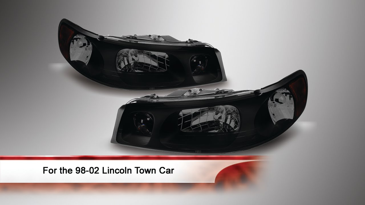 98 02 Lincoln Town Car Crystal Headlights