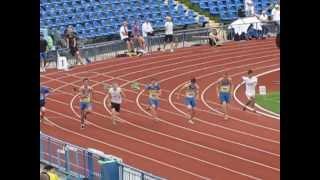 Чемпионат Украины Юниоры 2013 г. Харьков 100 м. юниоры забеги