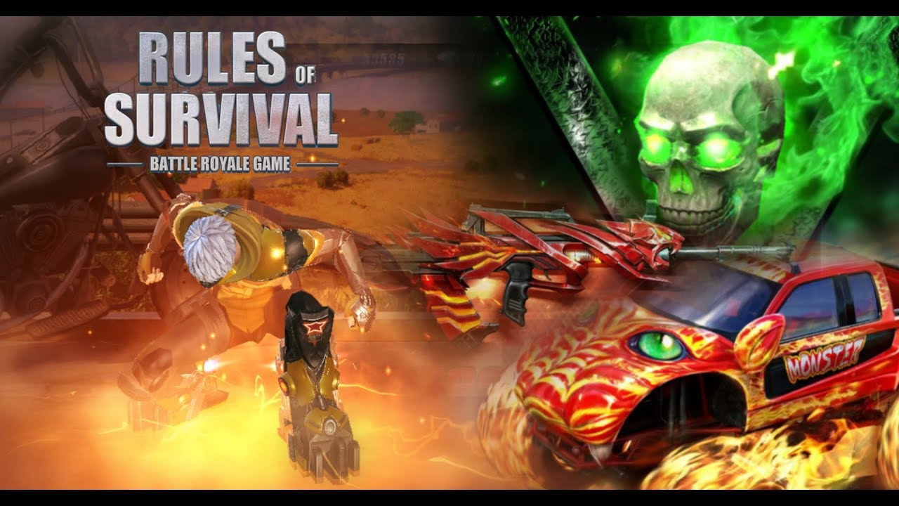 New Fire Skull Skin, New QBZ Gun & New Vehicle Skin - Rules of Survival Update