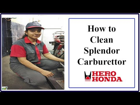 Mechanic Training: How to clean Hero Honda carburettor I MMI