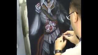 Atelier Meijer - Ezio Auditore T-shirt airbrush.