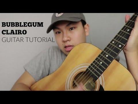 Bubblegum by Clairo   Guitar tutorial