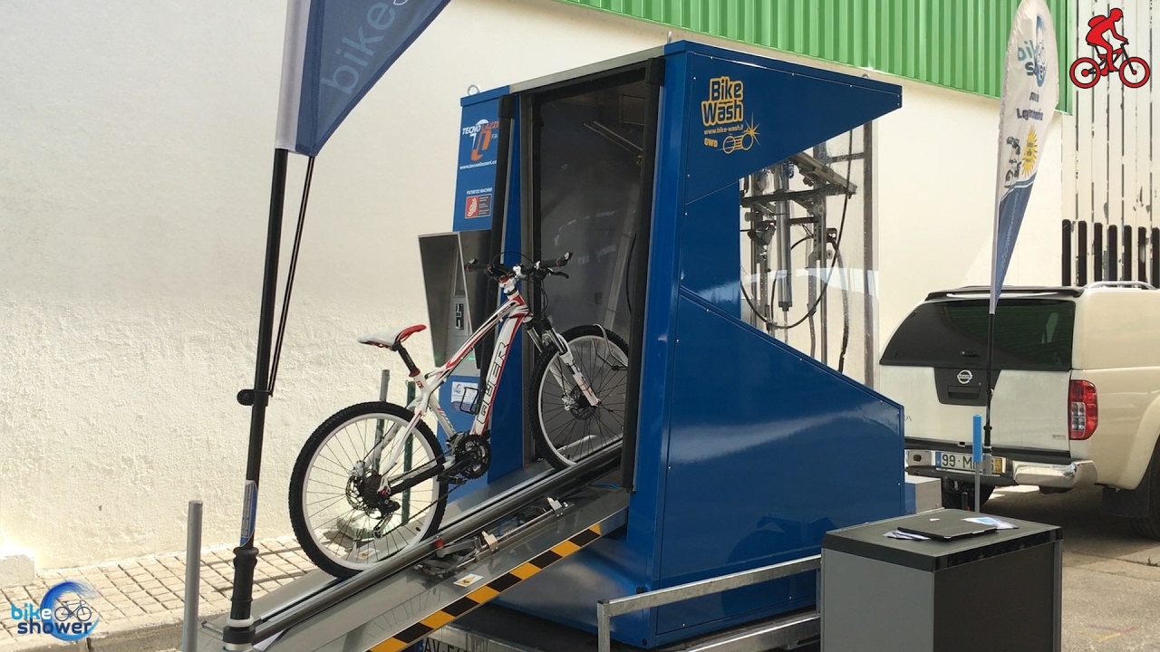 Bike Washing Machine >> Bike Shower The Automatic Bike Washing System Video The Bike