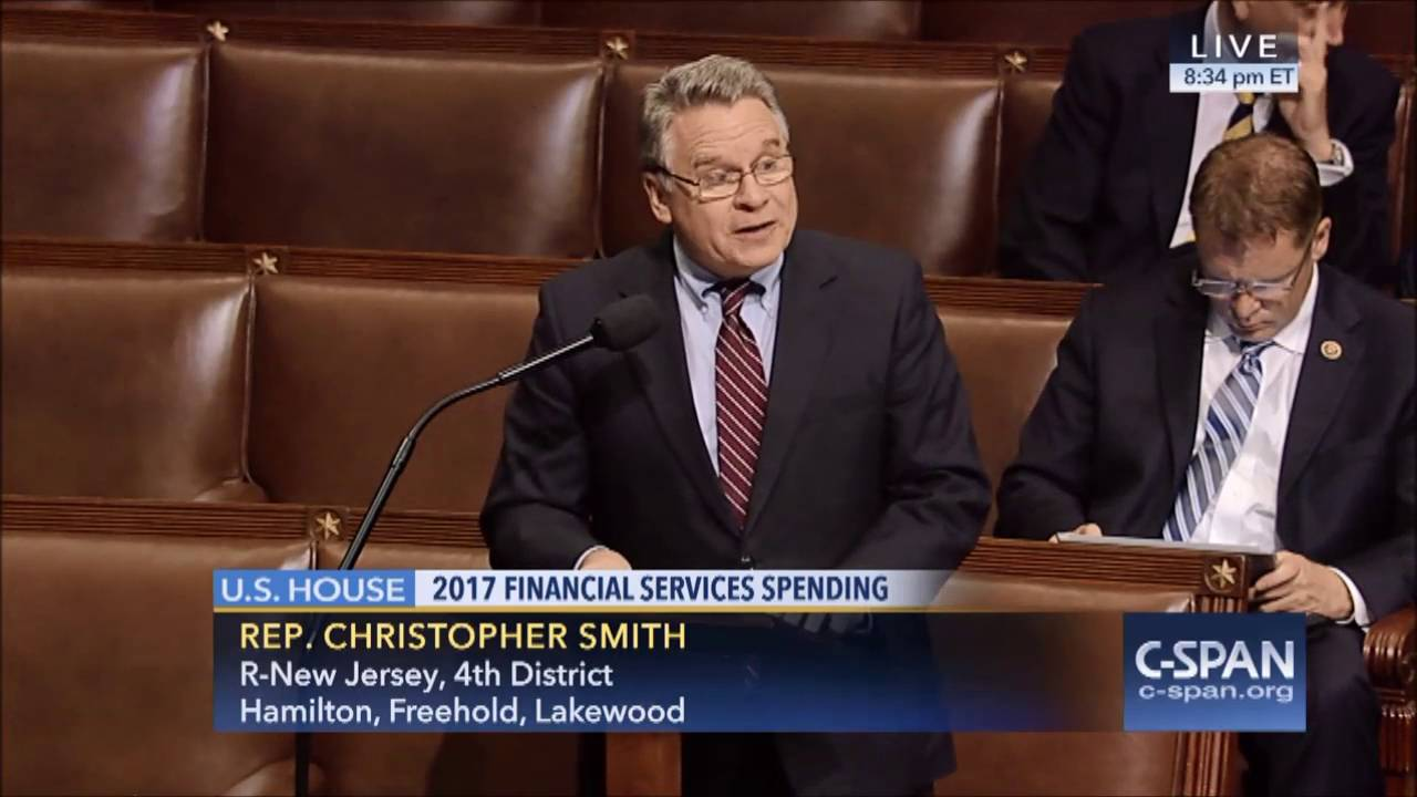more photos 5bb1f 70c07 Rep. Chris Smith (R-NJ) speech against Grayson amendment to allow taxpayer  funding for abortion