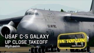 FSX Area51 C-5 Galaxy take off