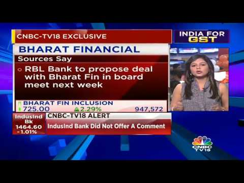 RBL Bank Likely To Propose Merger Of Bharat Fin Inc With Itself