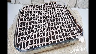 Dieser Kuchen ist der Hammer und eine Sünde wert I Saftiger Milchkuchen mit Schokoladensoße