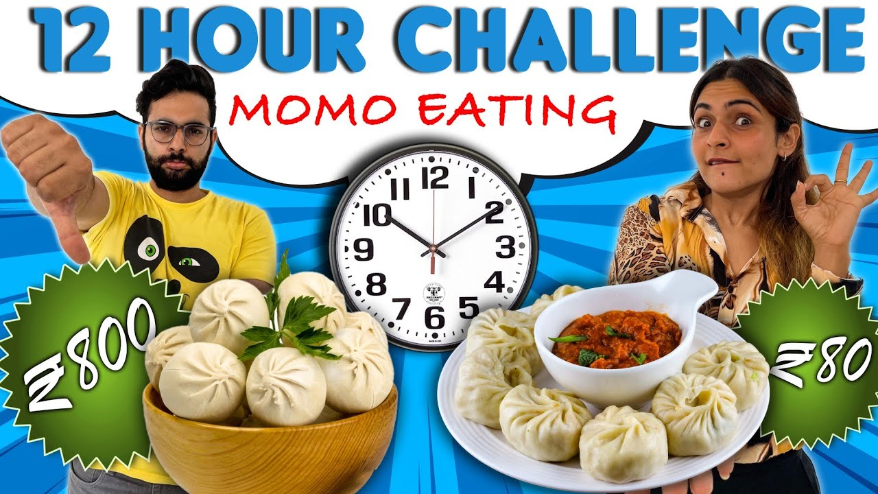 Eating Only MOMO For 12 Hour Food Challenge 😭