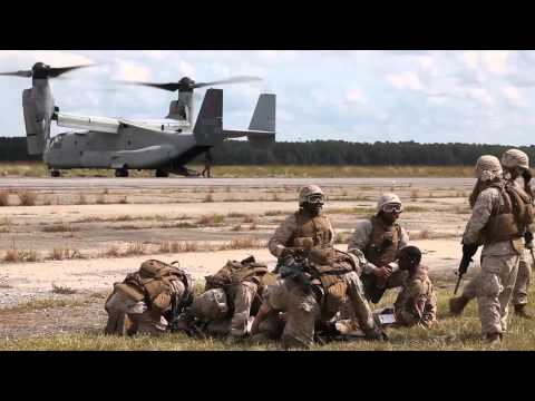 Marines and Sailors Combat Pre-Deployment Training