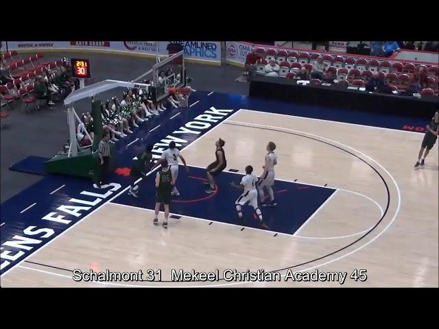 Game Highlights Boys' Varsity: Schalmont 59 vs Mekeel Christian 69 (F)