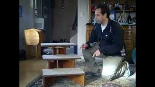 folding dog stairs woodworking plan