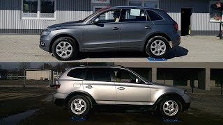 Bmw X3 xDrive vs Audi Q5 Quattro - 4x4 test on 3 rollers