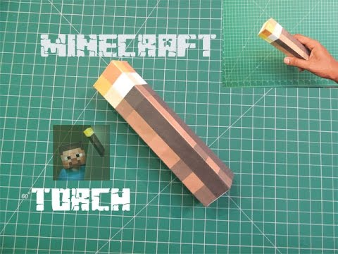 How to Make a Real Life Minecraft Torch with paper   Easy Tutorials