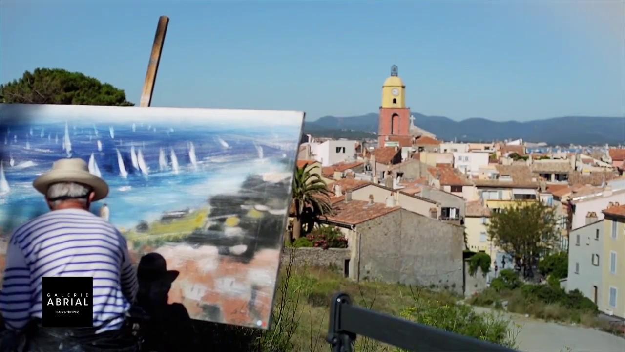 Artiste Peintre St Tropez saint-tropez exhibition of josiane et gérard abrial - the