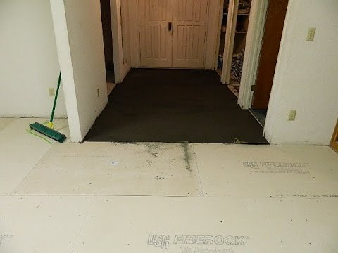 How To Level A Floor Before You Lay Tile Youtube