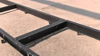 (урок 6) Монтаж рельсового пути пилорамы
