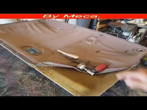 How to repair Ford Bronco headliner and sun visors  DIY.