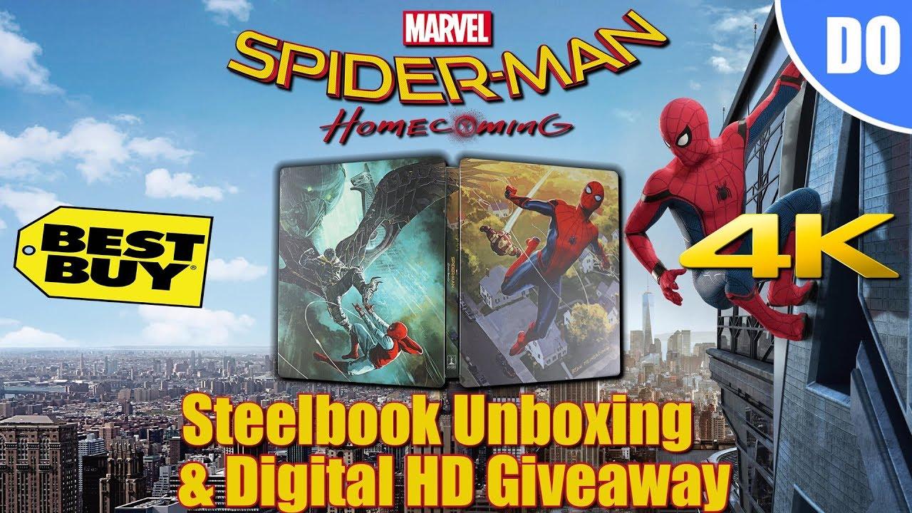 Spider-Man Homecoming Best Buy Exclusive 4K Steelbook