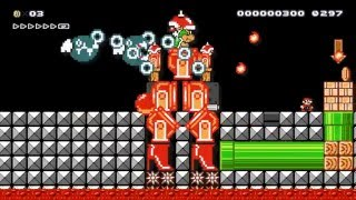 Super Mario Vs Mecha Bowzilla by Kiavik - SUPER MARIO MAKER - No Commentary