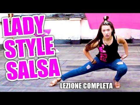 Lady style salsa: coreografia fusion di gestualità femminile - Lezione base di danza per ballare