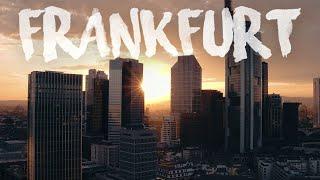 A Production for Netflix?! - Sundown behind the Skyline of Frankfurt a. Main, Germany