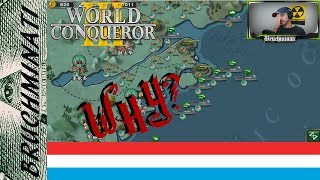 World Conqueror 3(Axis & Allies Mod) | Luxembourg 1939 #8 USA Strange Military Tactics