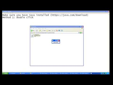 How to open an executable jar file (java)