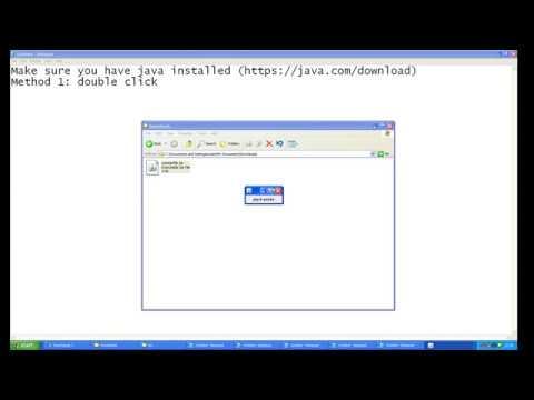 jar file opener windows 7