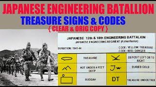 Download 12 & 18 JAPANESE ENGINEERING BATALLION TREASURE CODES &  SIGNS