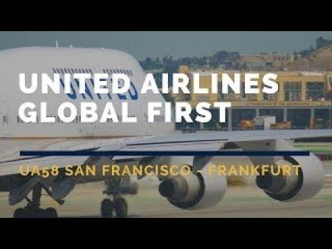 United Airlines Global First UA58 San Francisco-Frankfurt Flight Report ATC Channel 9 聯