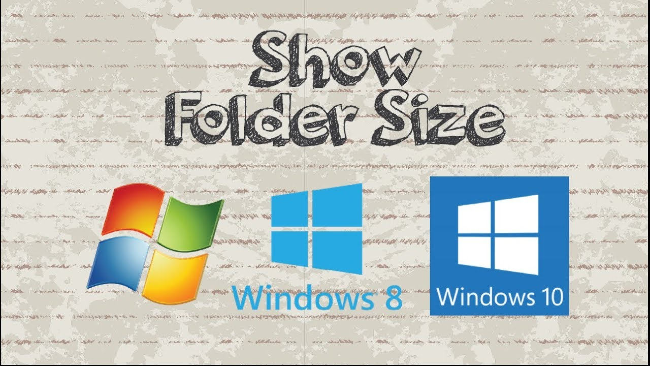 How to View Folder Size in Windows 7 / 8 / 10 Explorer