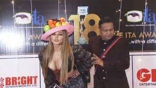 Internet पर बवाल मचाने वाली जोड़ी Rakhi Sawant And Deepak Kalal At The ITA Awards 2018