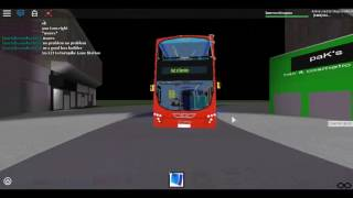Roblox North London bus Simulator utilizzando Wright Pulsar Gemini DAF DB300 Arriva London Route 221 Test