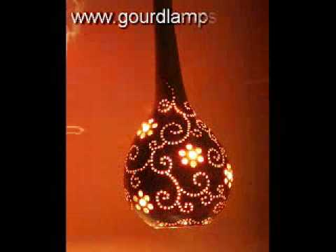 Artistic Gourd Lamps   Http://www.gourdlamps.com   YouTube