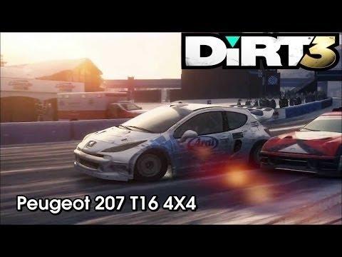peugeot 207 t16 4x4 - dirt 3 - youtube