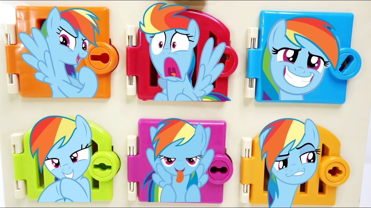 My Little Pony Rainbow Dash Trapped Matching Colors and ...