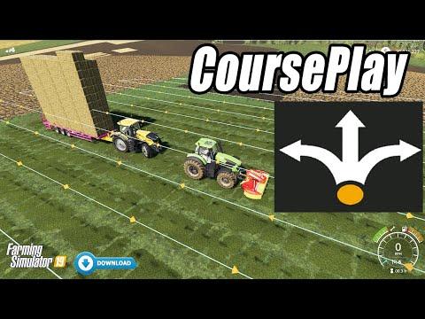 Full Auto Farming!! How To Use Courseplay Mod? Farming Simulator 19