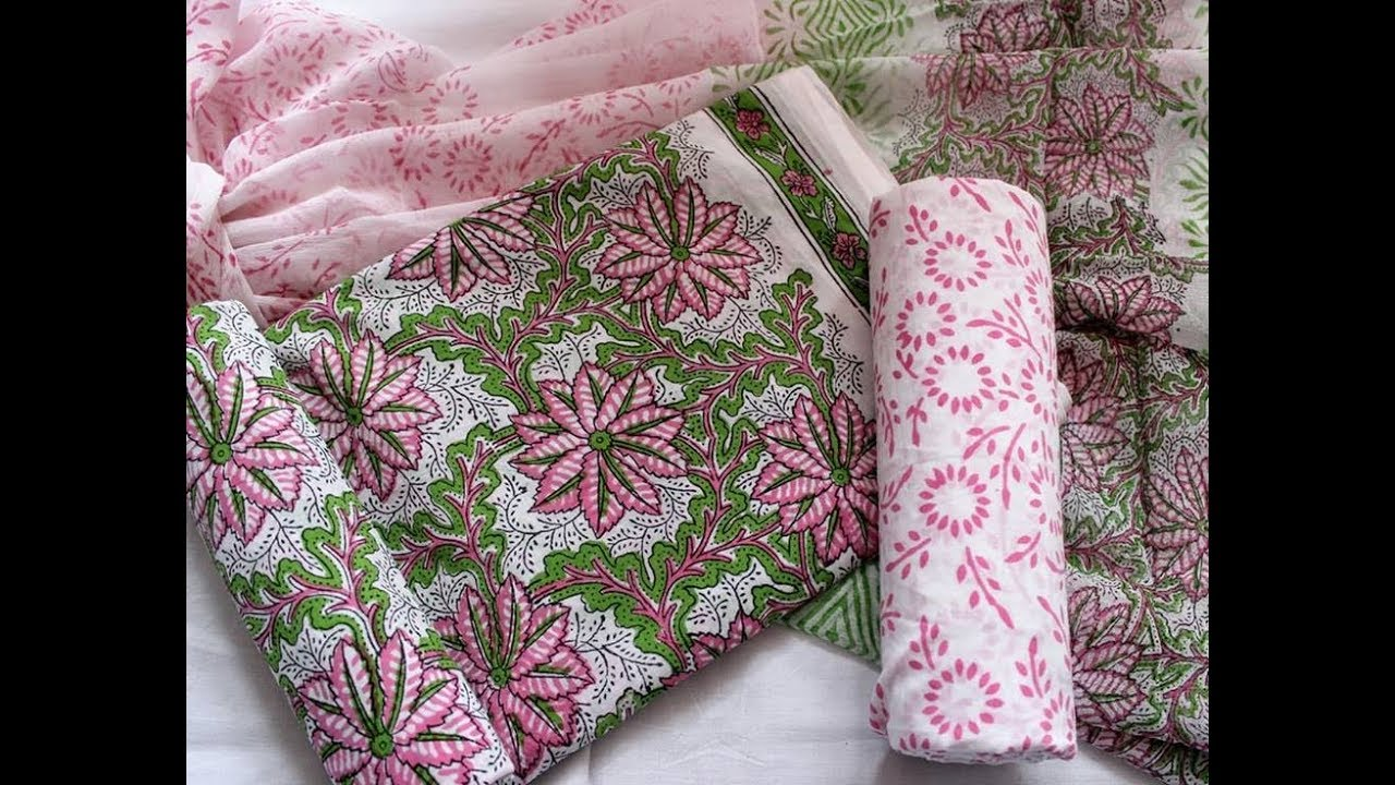 Latest Stylish Pure Ikat Dress Materials Latest Designer Cotton