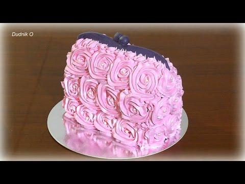 Кремовый торт сумочка Как сделать торт сумочку из крема мастер-класс