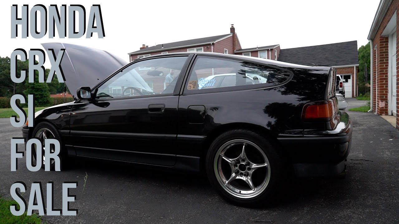 super clean 1988 honda crx si for sale youtube. Black Bedroom Furniture Sets. Home Design Ideas