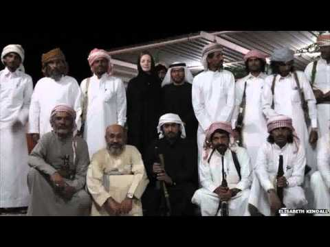 Elisabeth Kendall in Yemen with cross tribal guards who helped her travel