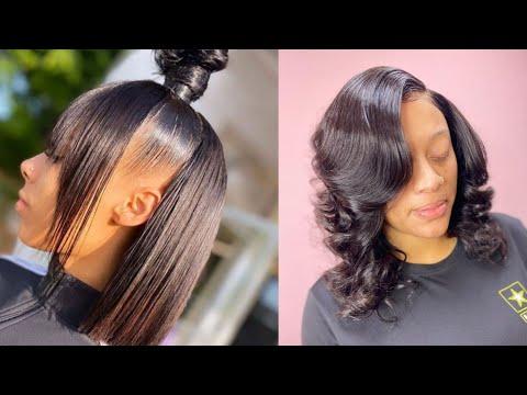 silk-press-transformation-on-natural-hair-|-compliation