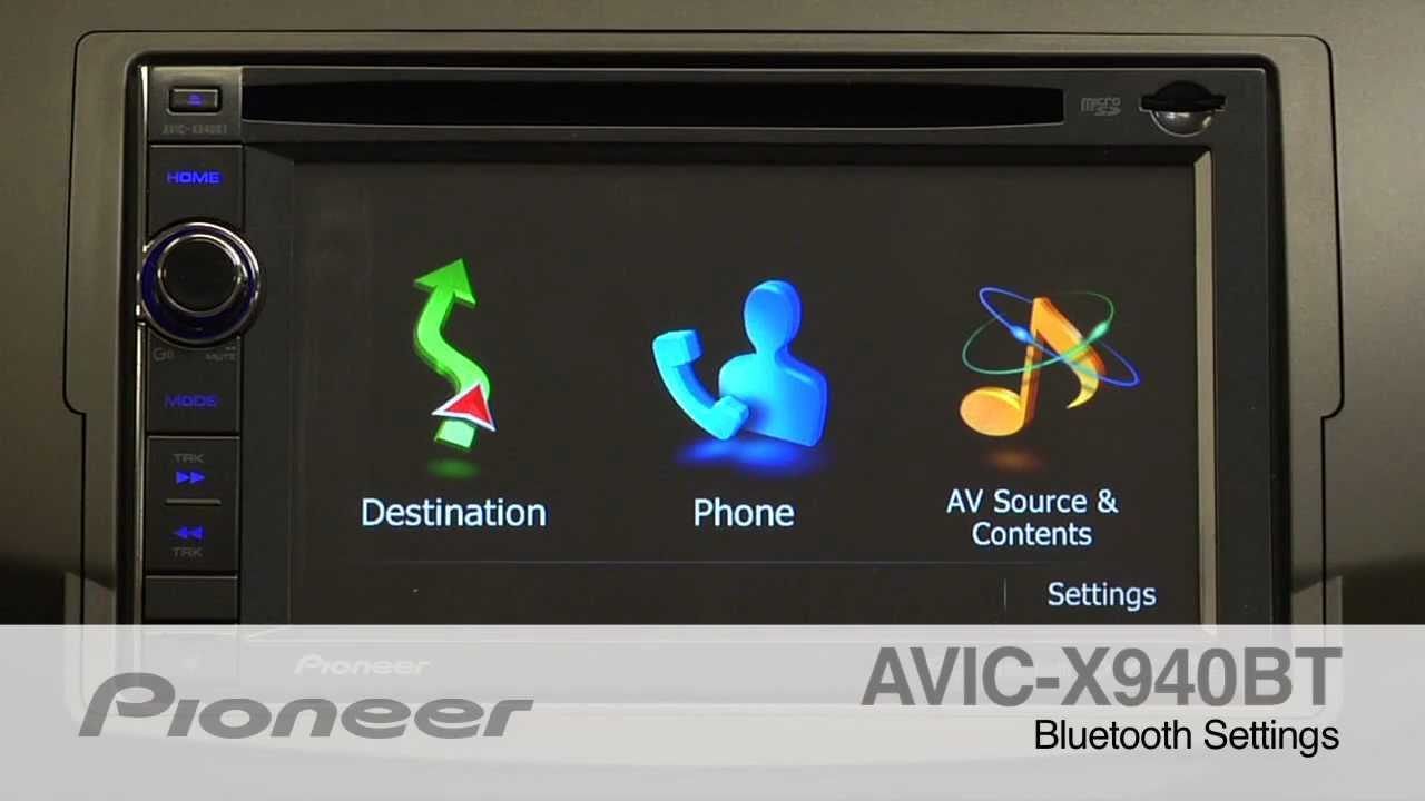 How To - AVIC-X940BT - Bluetooth Phone Settings