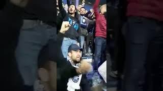 Adana Demirspor tribünlerinden Eskişehirspora destek